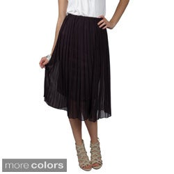 T by Hailey Jeans Co. Juniors Elastic-Waist Fully Lined Pleated Long Skirt