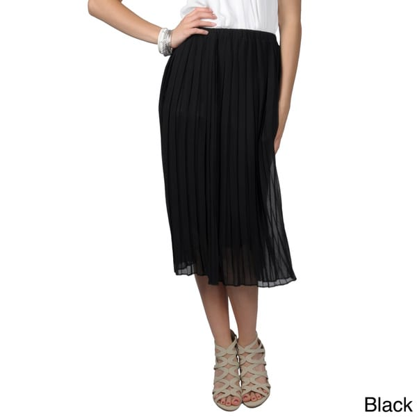T by Hailey Jeans Co. Juniors Elastic Waist Pleated Long Skirt