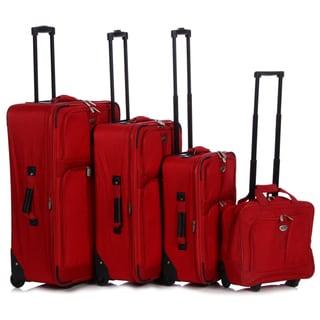 American Travel / Pacific Coast 4-piece Upright Luggage Set