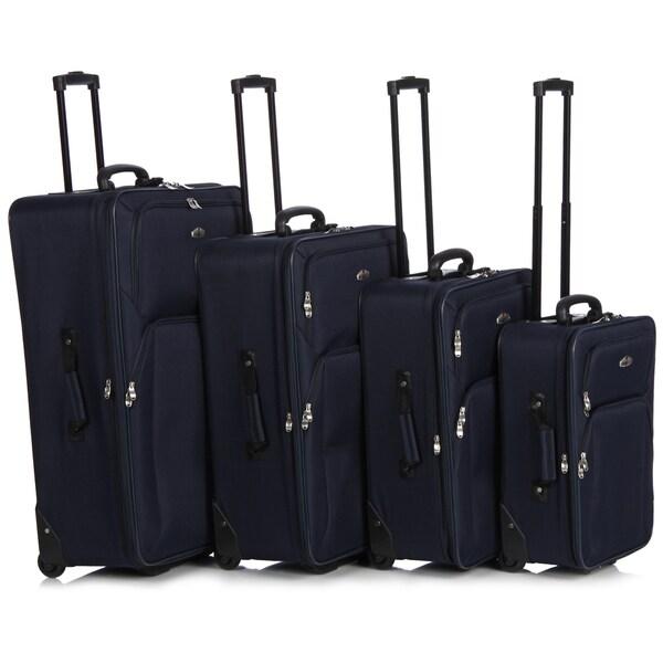 American Trunck & Case Blue Four-piece Luggage Set