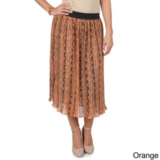 T by Hailey Jeans Co. Juniors Floral-Pattern Elastic-Waist Pleated Long Skirt