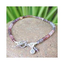 Spinel Floral Bracelet 'Rosy Rain' (Thailand)
