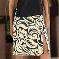 Cotton 'Balinese Shadow' Batik Wraparound Skirt (Indonesia)