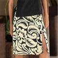 Cotton 'Balinese Shadow' Batik Wraparound Skirt (Indonesia)