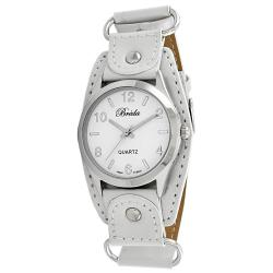 Breda Women's White Taylor Leather Strap Watch