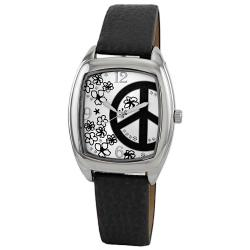Breda Women's 'Savannah' Peace Sign and Flower Dial Watch