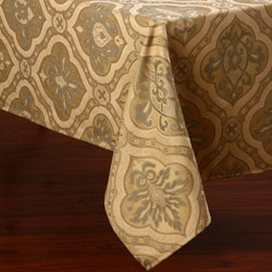 Corona Decor Camel and Sage Traditional Design 50x90-inch Italian Heavy Weight Tablecloth
