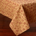 Red and Gold Corona Decor Floral Design 50x90-inch Italian Heavy Weight Tablecloth
