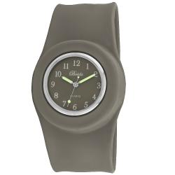 Breda Women's 'Lilly' Slap-on Gray Silicone Watch