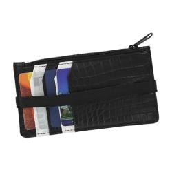 Retro 51 Black and White Slim Genuine Leather Wallet