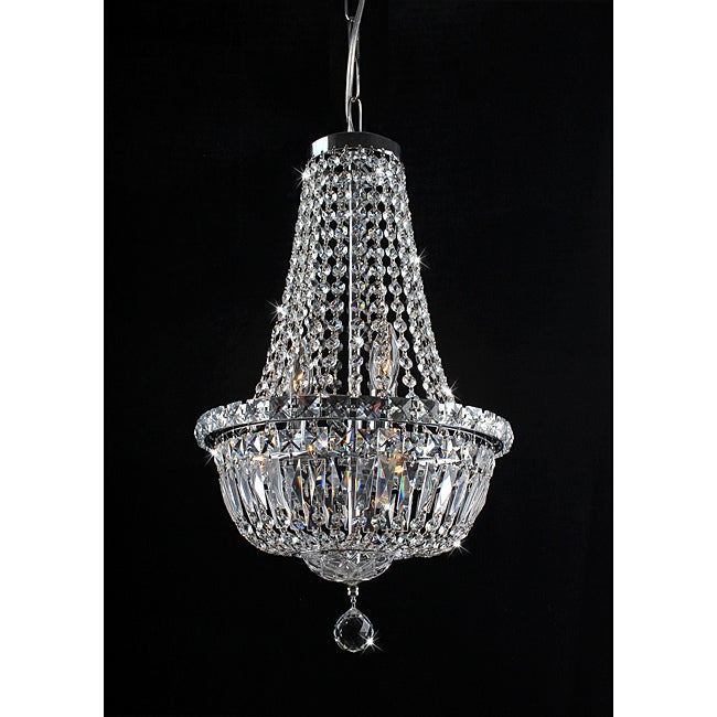 Centerpiece Chrome and Crystal 6-Light Chandelier