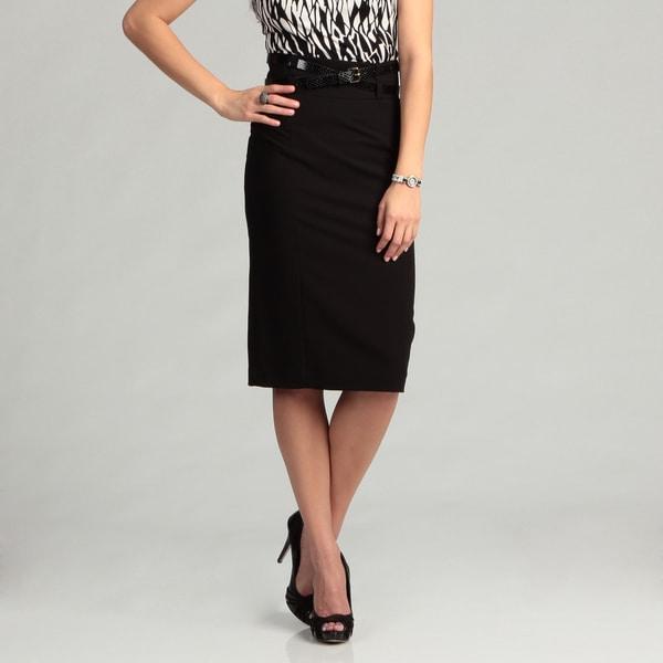 Calvin Klein Women's Black Belted Skirt