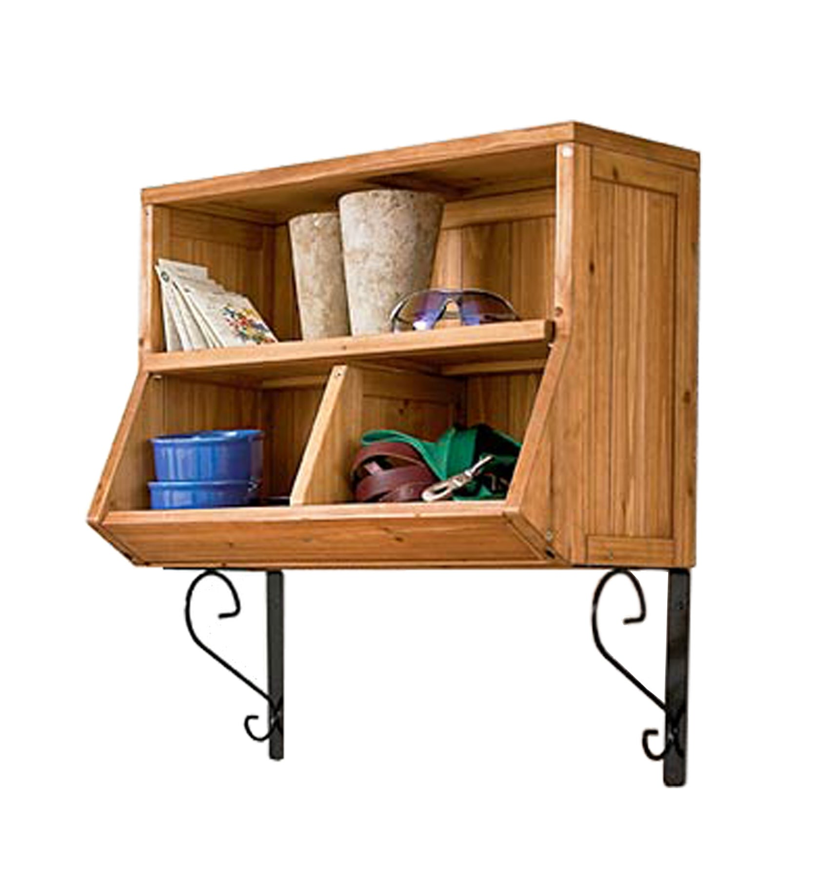 Wall Storage Cubby with Brackets