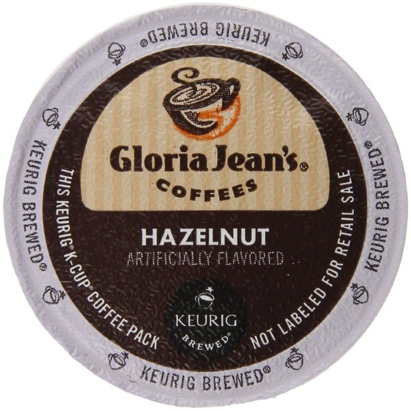Gloria Jean's Coffees, Hazelnut Coffee, K-Cup for Keurig Brewers (48 count)