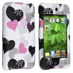 Pink/ Black Rubber Coated Case for Apple iPod Touch Generation 2/ 3