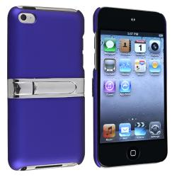 Blue with Chrome Stand Snap-on Case for Apple iPod Touch Generation 4