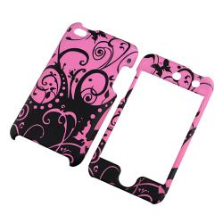 Purple/ Black Rubber Coated Case for Apple iPod Touch Generation 4