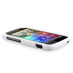 White Snap-on Rubber Coated Case for HTC Sensation 4G