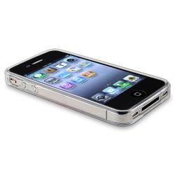 Clear Dog Paw Foot Print TPU Rubber Skin Case for Apple iPhone 4/ 4S