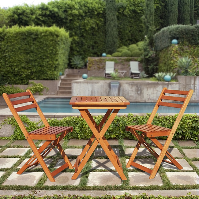 Premium Hardwood 3-piece Bistro Set