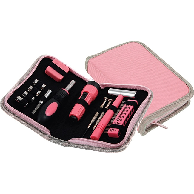 Ruff and Ready 23-piece Pink Tool Set