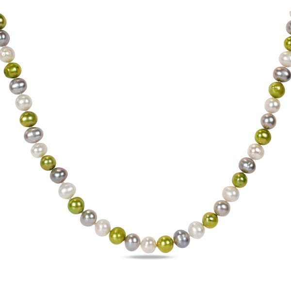 Miadora Multi-colored Cultured Freshwater Pearl 60-inch Endless Necklace (9-10 mm)
