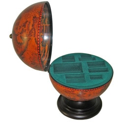 Globe Box for Storing Playing Cards, Poker Chips and Dice