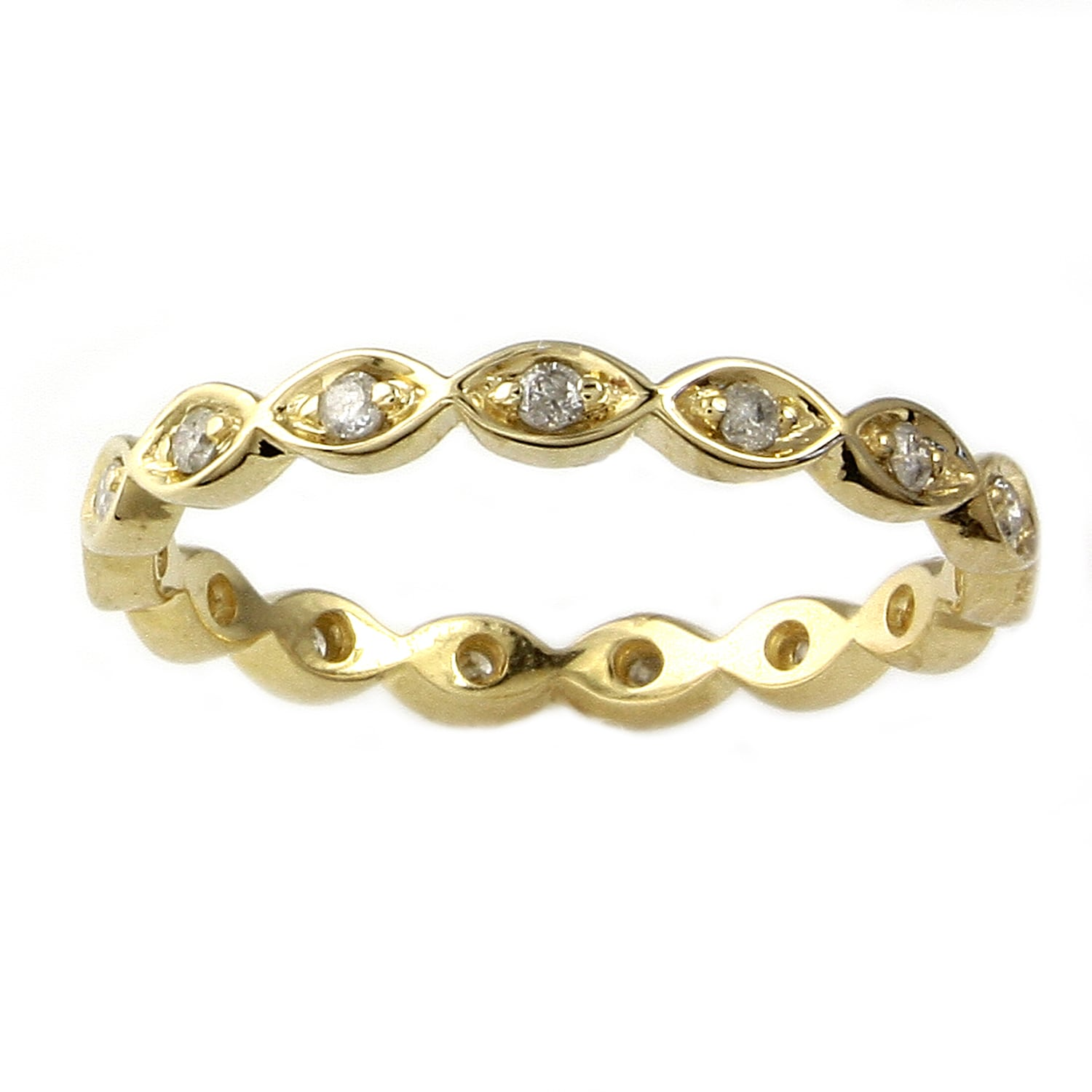 Eziba Collection 10k Yellow Gold 1/5ct TDW Diamond Eternity Band Stackable Ring (H-I, I2) at Sears.com