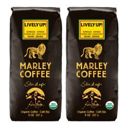 Marley Coffee Lively Up Espresso Whole Bean Coffee (1 Pound)