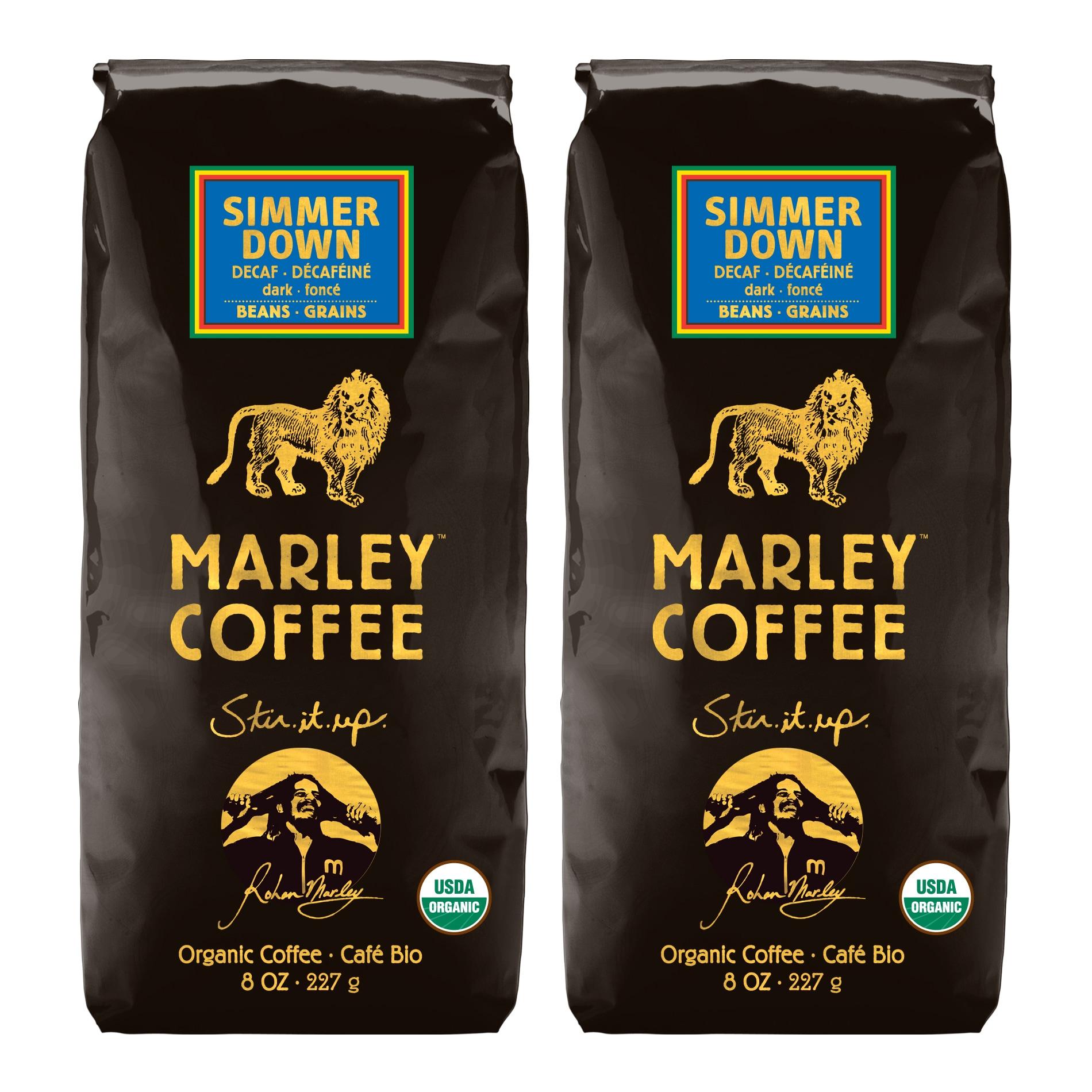 Marley Coffee Simmer Down Swiss Decaf Whole Bean Coffee (1 Pound)