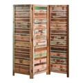 Reclaimed Wood Three-Panel Screen (India)