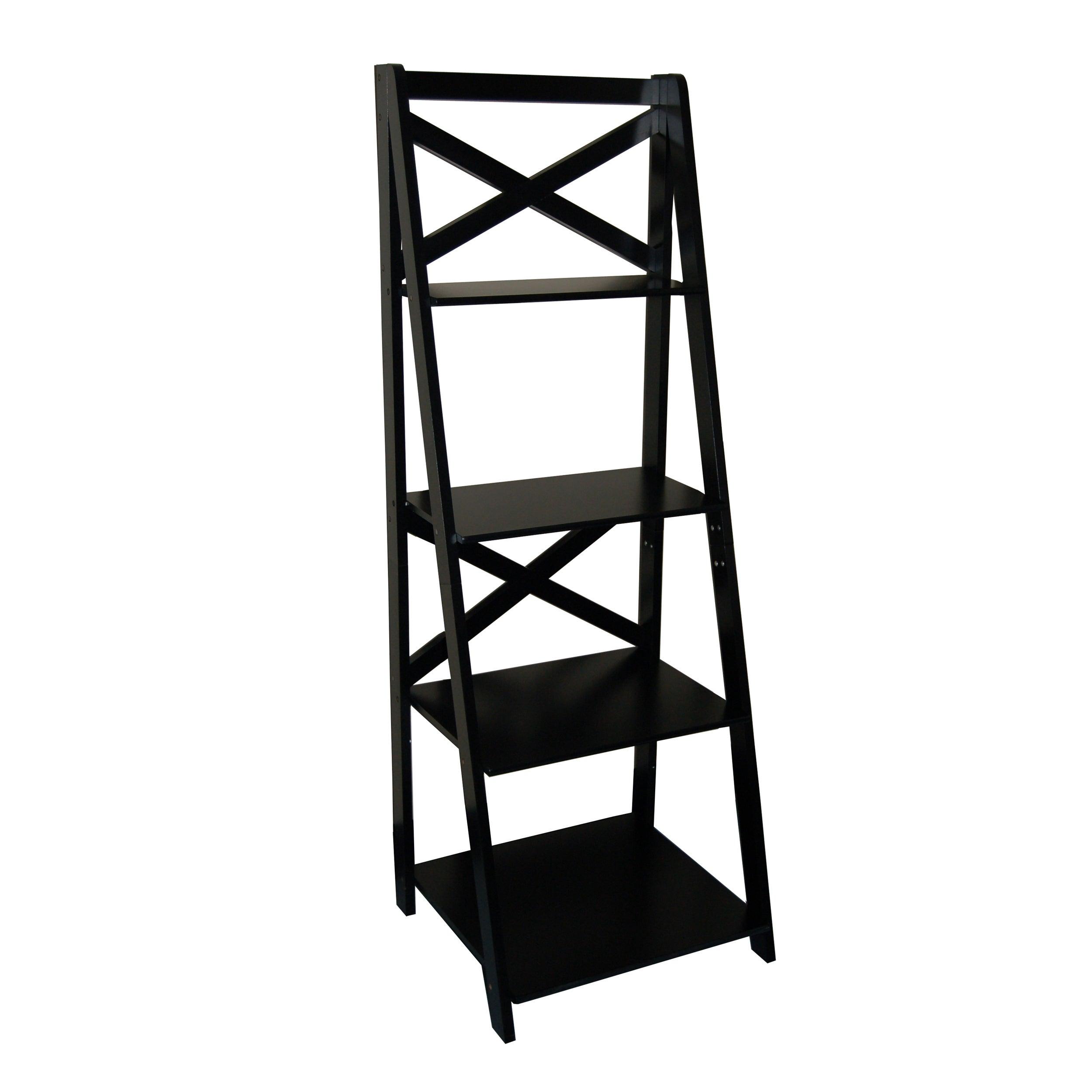 28 target ladder bookshelf 5 shelf trestle bookcase espress