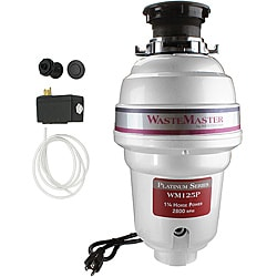WasteMaster WM125P_62 1/4 HP Food Waste/ Garbage Disposal with Air Switch Kit