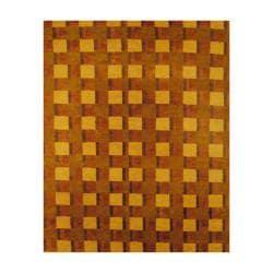 Tibetan Hand-knotted Green/ Brown Wool Rug (8' x 10')