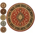 Medallion Traditional Red Area Rug (5' 3 Round)