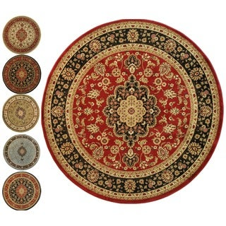 Medallion Traditional Area Rug Border (5'3 Round)