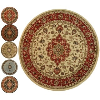 Medallion Traditional Soft Pile Area Rug (5'3 Round)