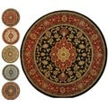 Medallion Traditional Black Area Rug (5' 3 Round)