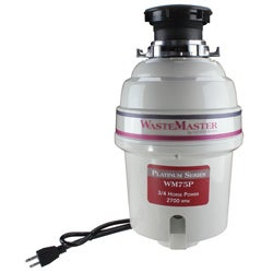 WasteMaster WM75P 3/4 HP Platinum Series Food Waste Disposer Garbage Disposal