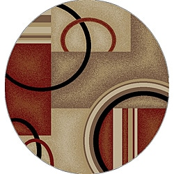 Generations Contemporary Red Area Rug (5' 3 Round)