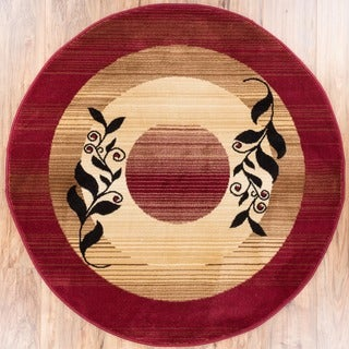 Madrid Red Area Rug (5' 3 Round)