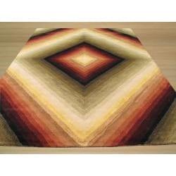 Hand-tufted Desert Star Wool Rug (7'9 x 9'9)
