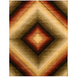Hand-tufted Desert Star Wool Rug (7'9 x 9'9)