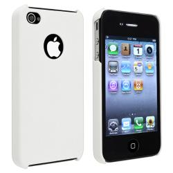 White Matte Snap-on Case for Apple iPhone 4/ 4S