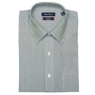 Nautica Men's Green Stripe Dress Shirt FINAL SALE