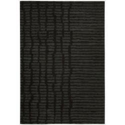 Nourison Home Hand-tufted Luster Wash Black Rug (8'3 x 11')