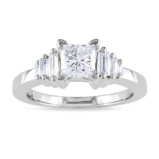 Miadora 14k White Gold 1 1/4ct TDW Diamond Engagement Ring (H-I, I1-I2)