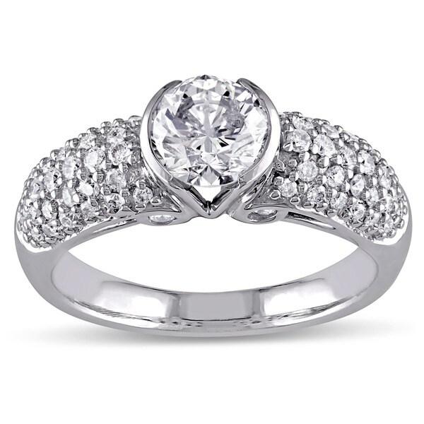 Miadora Signature Collection 14k White Gold 1 1/2ct TDW Certified Diamond Ring (H-I, I1, IGI)
