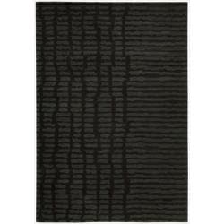 Nourison Home Hand-tufted Luster Wash Black Rug (5'6 x 8')