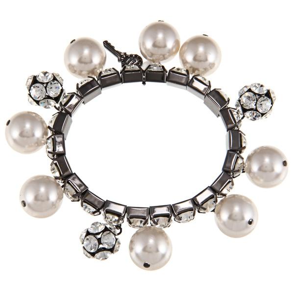 Betsey Johnson Gunmetal Crystal Fireball Bracelet